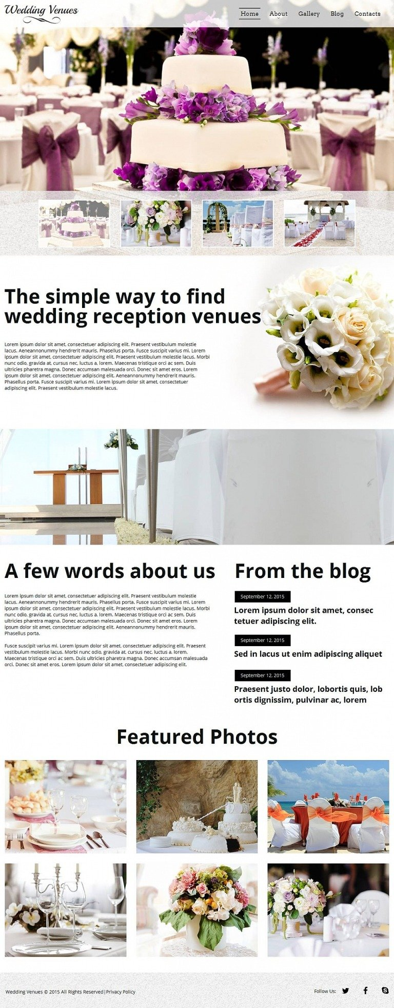 Wedding Venues Moto CMS HTML Template New Screenshots BIG