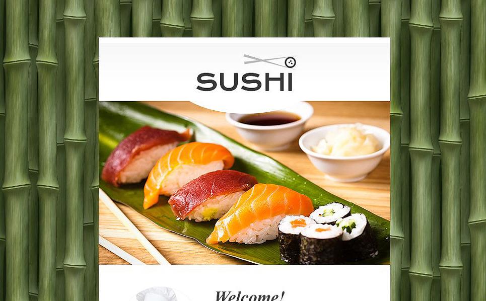 Responzivní Newsletter šablona na téma Sushi bar New Screenshots BIG