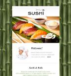 Cafe & Restaurant Newsletter  Template 53102