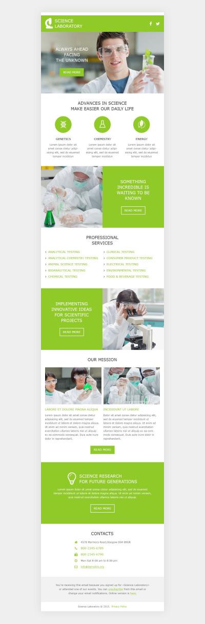 Vetenskapslabb Responsivt Newsletter-mall