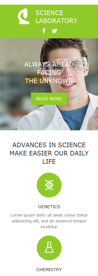 science newsletter template 5