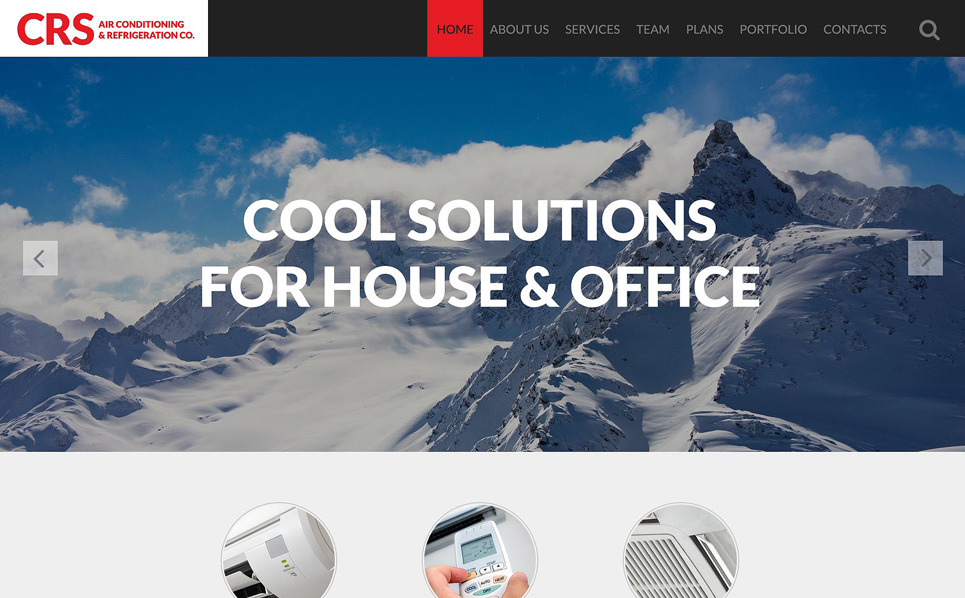 Responsive Website template over Airconditioning  New Screenshots BIG