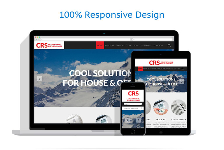 Air Conditioning Website Template #53108