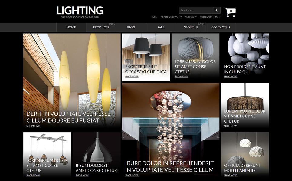 Tema Shopify Responsive #53115 per Un Sito di Illuminazione e Elettricità New Screenshots BIG