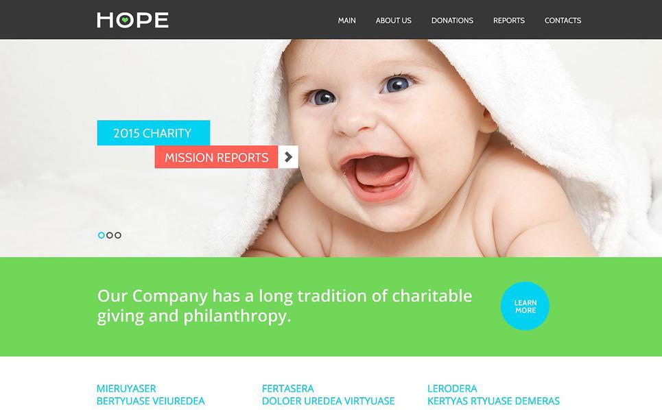 Responzivní Šablona webových stránek na téma Charita New Screenshots BIG