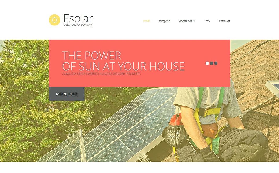 Responzivní Šablona webových stránek na téma Sluneční energie New Screenshots BIG
