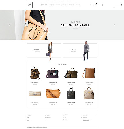 osCommerce Template 53120 Main Page Screenshot