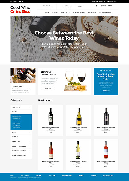 osCommerce Template 53121 Main Page Screenshot