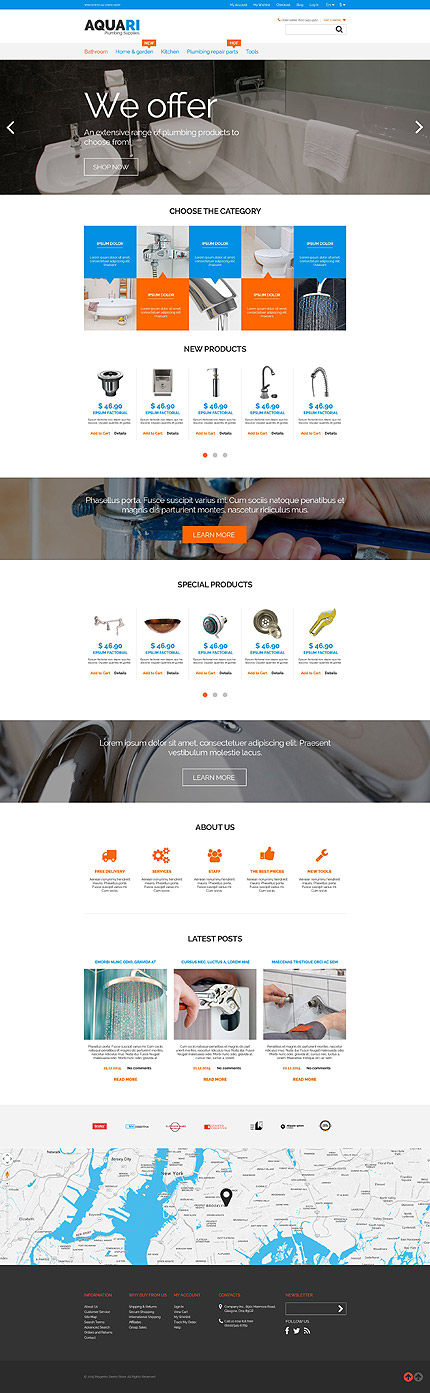 Magento Theme/Template 53128 Main Page Screenshot