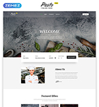 Cafe & Restaurant Website  Template 53136