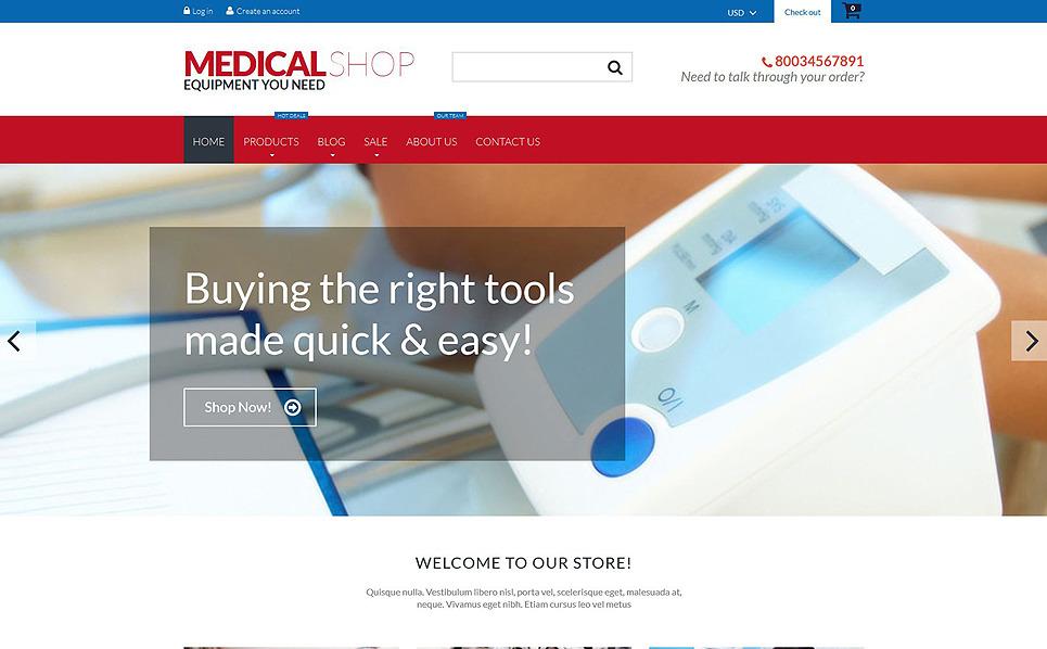 Адаптивний Shopify шаблон на тему медичне обладнання New Screenshots BIG