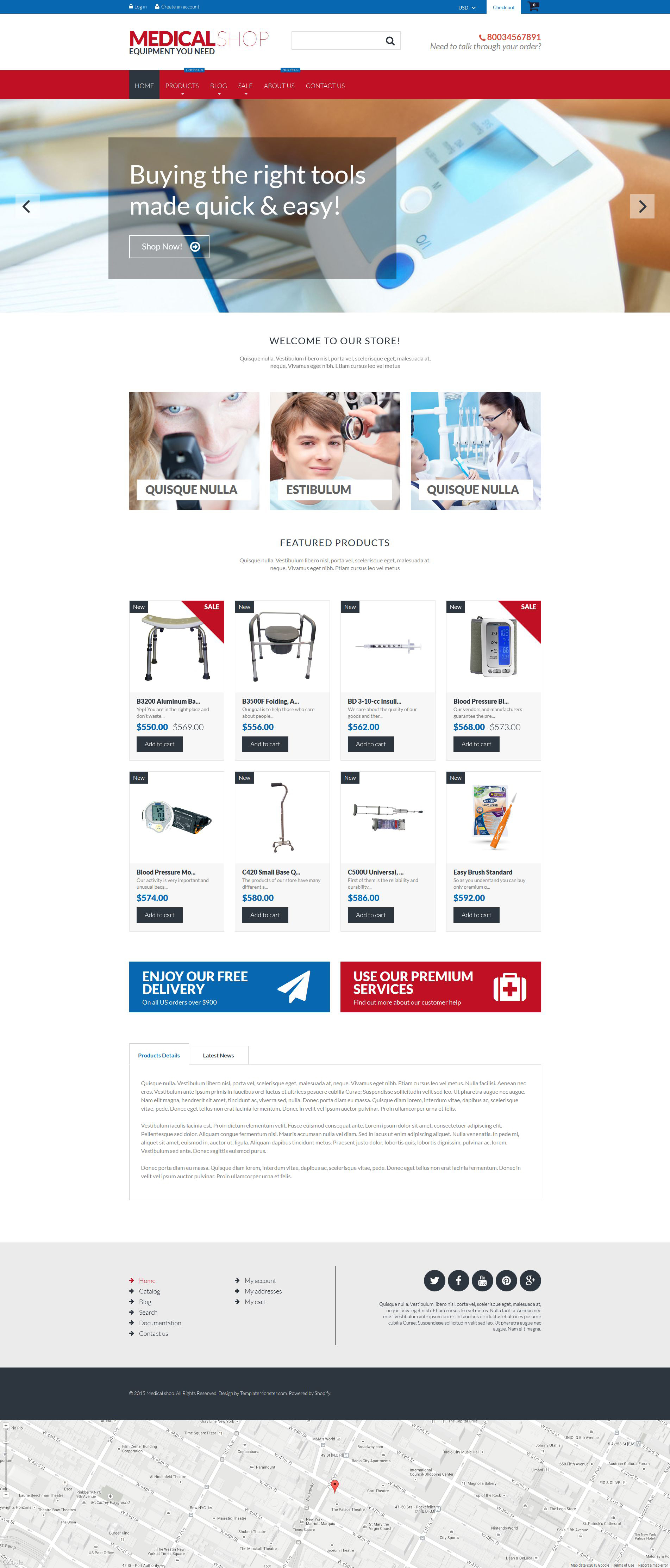 The Medical Shop Shopify Design 53141, one of the best Shopify themes of its kind (medical, most popular), also known as medical shop Shopify template, equipment Shopify template, medicine Shopify template, equipment store Shopify template, pump Shopify template, therapy Shopify template, ophthalmology Shopify template, monitor Shopify template, laboratory Shopify template, neonatal Shopify template, surgical Shopify template, veterinary Shopify template, respiratory Shopify template, neurology Shopify template, exam Shopify template, endoscopy Shopify template, cardiology Shopify template, cosmetic Shopify template, defibrillator and related with medical shop, equipment, medicine, equipment store, pump, therapy, ophthalmology, monitor, laboratory, neonatal, surgical, veterinary, respiratory, neurology, exam, endoscopy, cardiology, cosmetic, defibrillator, etc.