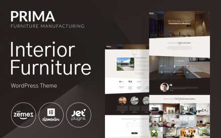 Interior Furniture WordPress Theme - Prima
