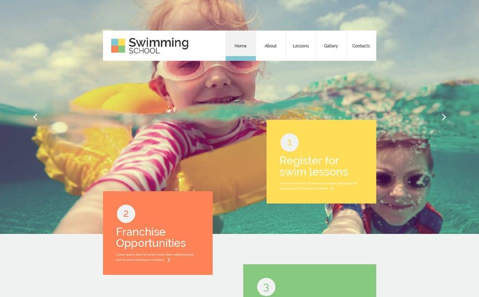 Reszponzív Úszás Weboldal sablon New Screenshots BIG