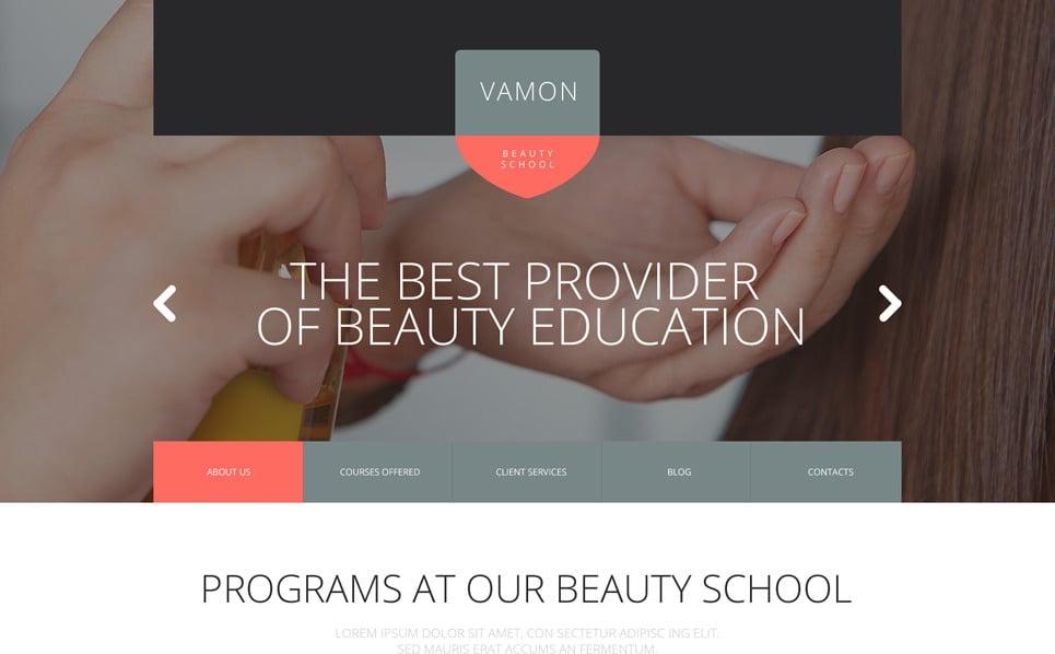 Responsive Güzellik Okulu  Web Sitesi Şablonu New Screenshots BIG