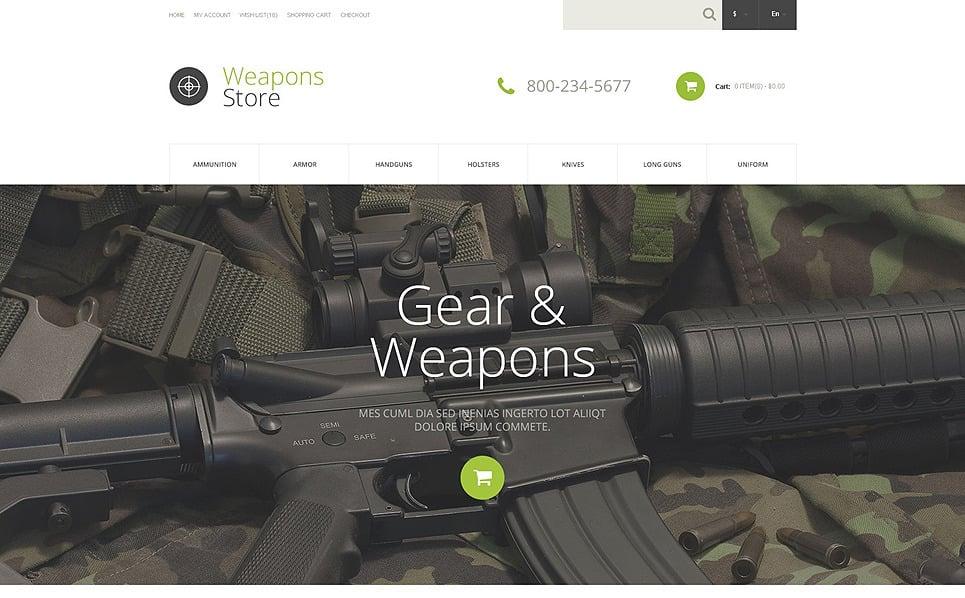 Responsive OpenCart Template over Wapenwinkel  New Screenshots BIG