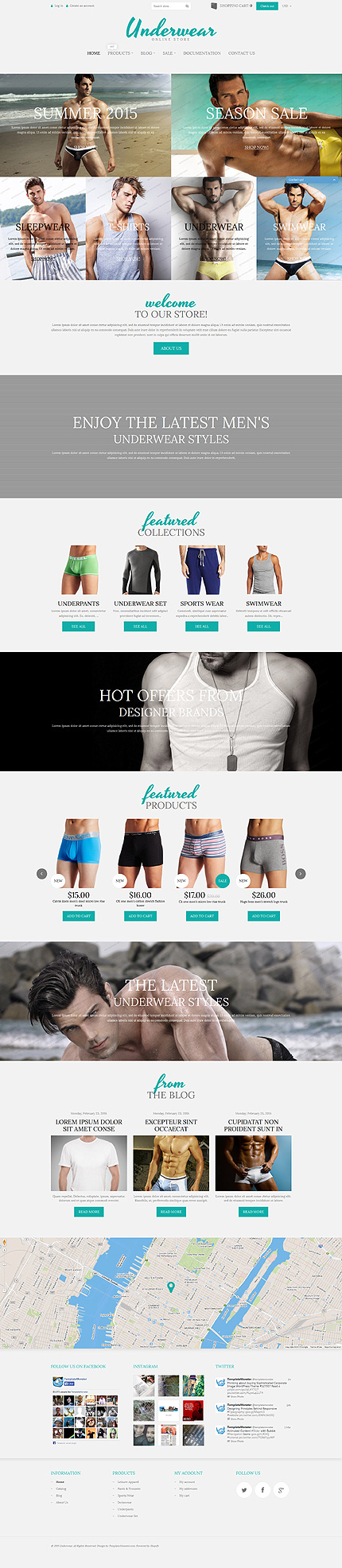 Underwear Store Shopify Free Sample
