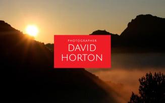 David Horton - Photographer Portfolio Minimal HTML5 Landing Page Template