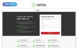 Responsivt Wrico - Web Development HTML Landing Page-mall