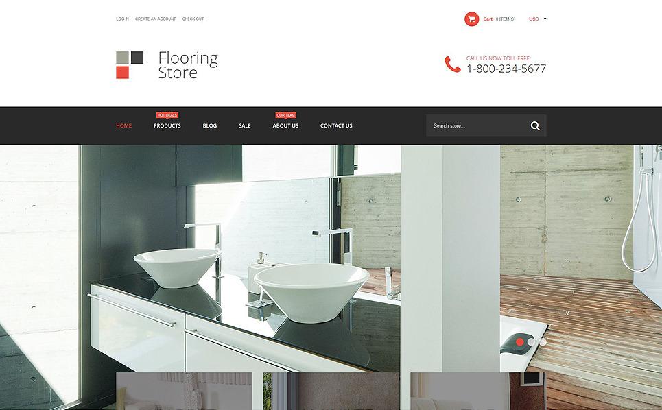 Адаптивний Shopify шаблон на тему підлога New Screenshots BIG