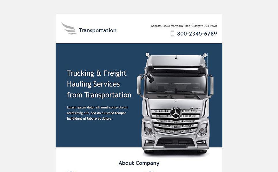 Tema di Newsletter Responsive #53193 per Un Sito di Trasporti New Screenshots BIG