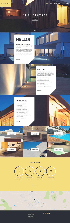 Адаптивный шаблон сайта на тему архитектура #53109