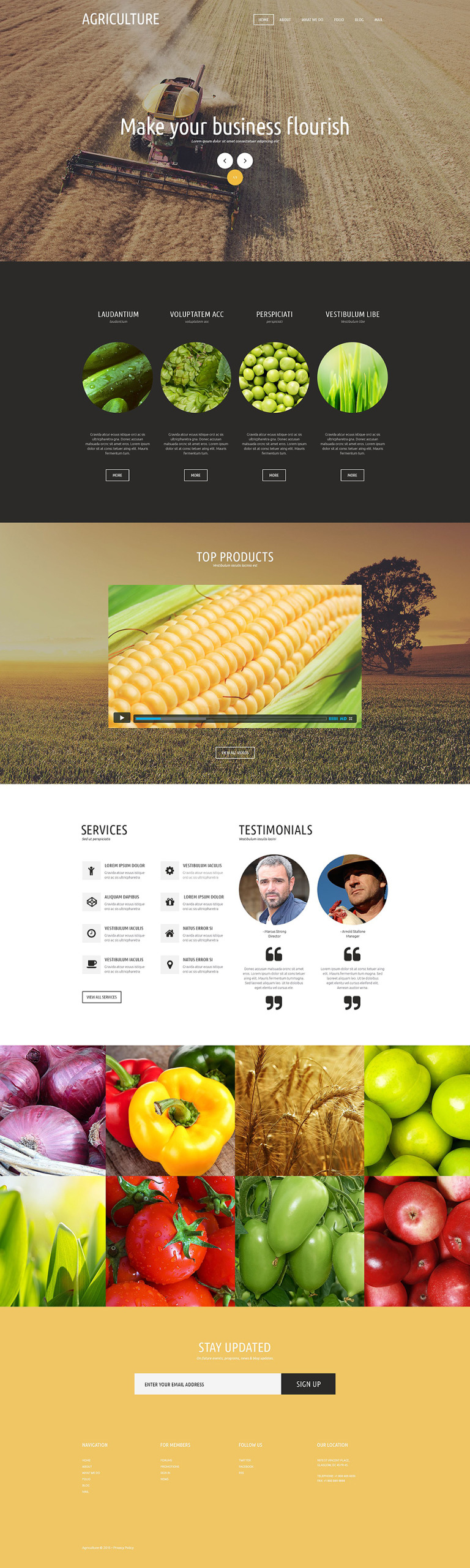 Agricultural Organization Joomla Template New Screenshots BIG