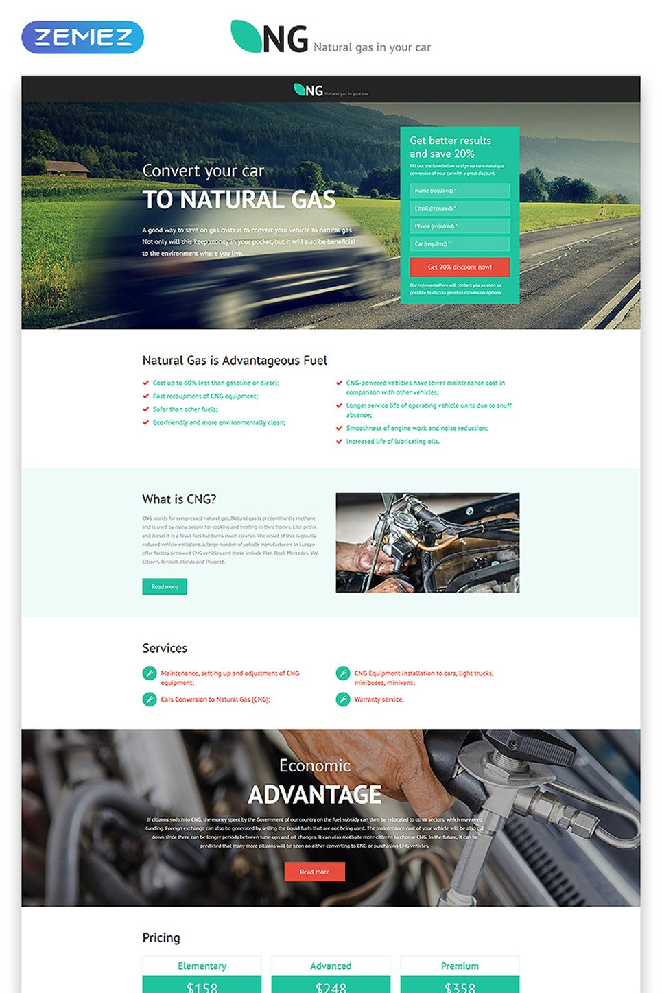 Alternative Power Responsive Landing Page Template New Screenshots BIG