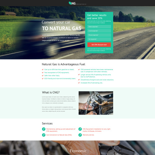 Ng Clean Power - Unbounce Template
