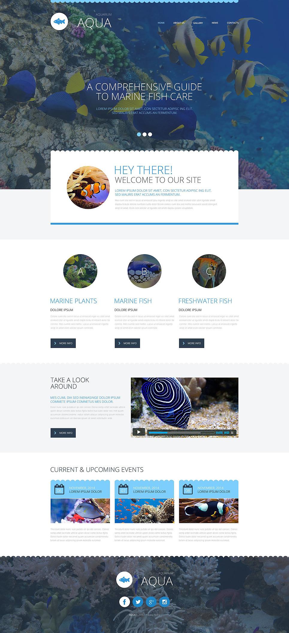 Aquarium Website Template New Screenshots BIG