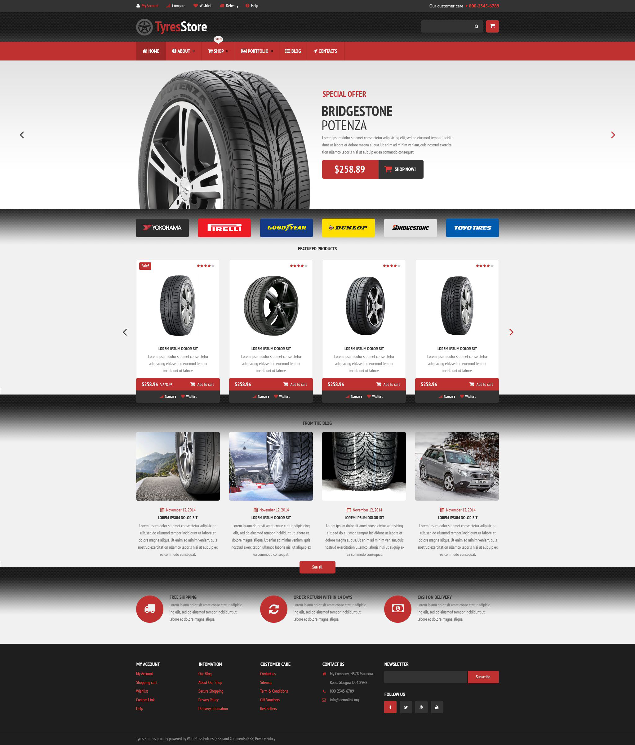 Auto Parts Store WooCommerce Theme - screenshot