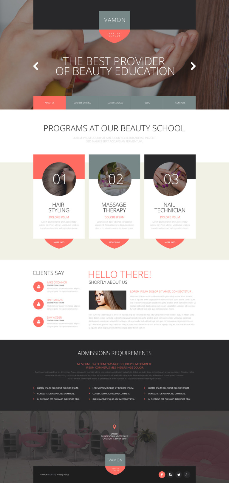 Beauty School Website Template New Screenshots BIG