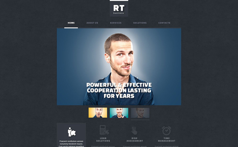 Business Consulting Services Website Template