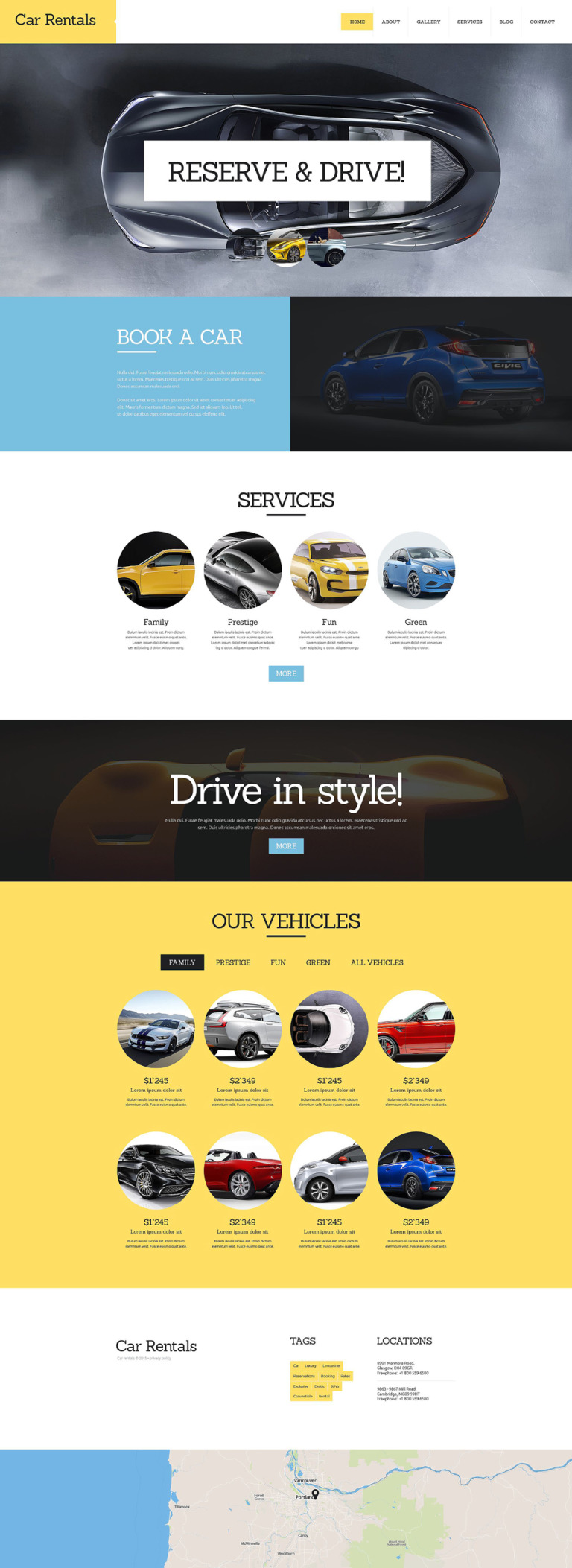 Car Rental Joomla Template New Screenshots BIG