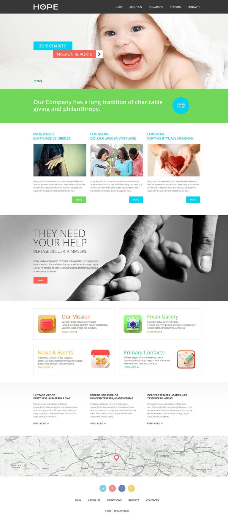 Charity Responsive Website Template New Screenshots BIG
