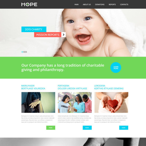Hope - Responsive Website Template