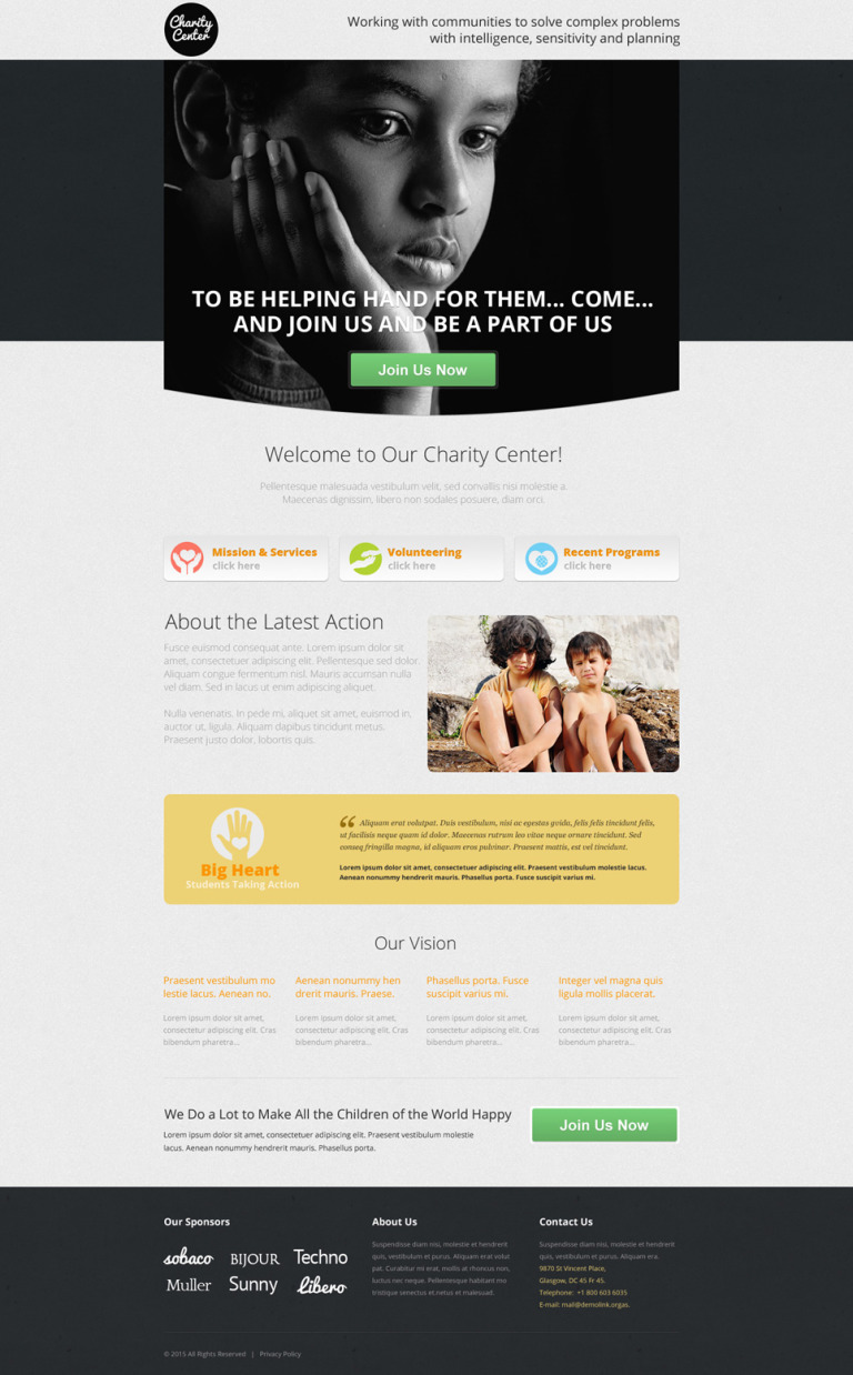 Charity Unbounce Template New Screenshots BIG