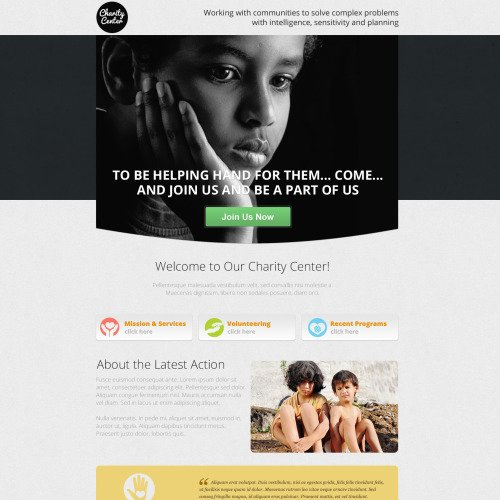 Charity Center - Unbounce Template