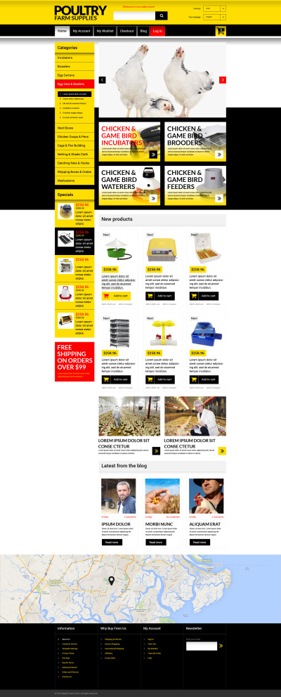 Chicken Farming Magento Theme