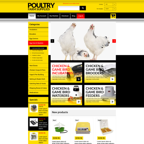 Poultry Farm Supplies - Responsive Magento Template