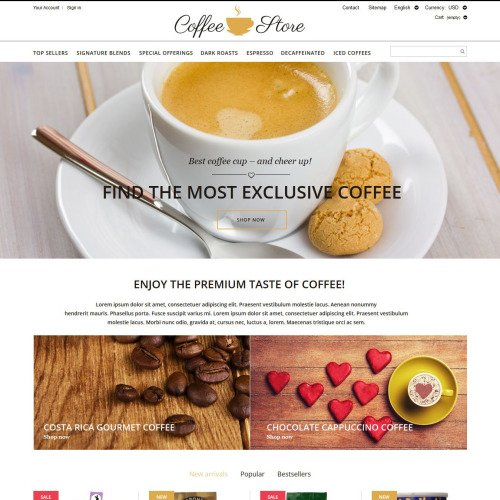 Coffee Store - PrestaShop Template based on Bootstrap
