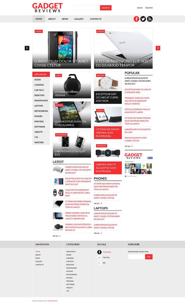 Electronics Reviews Joomla Template New Screenshots BIG