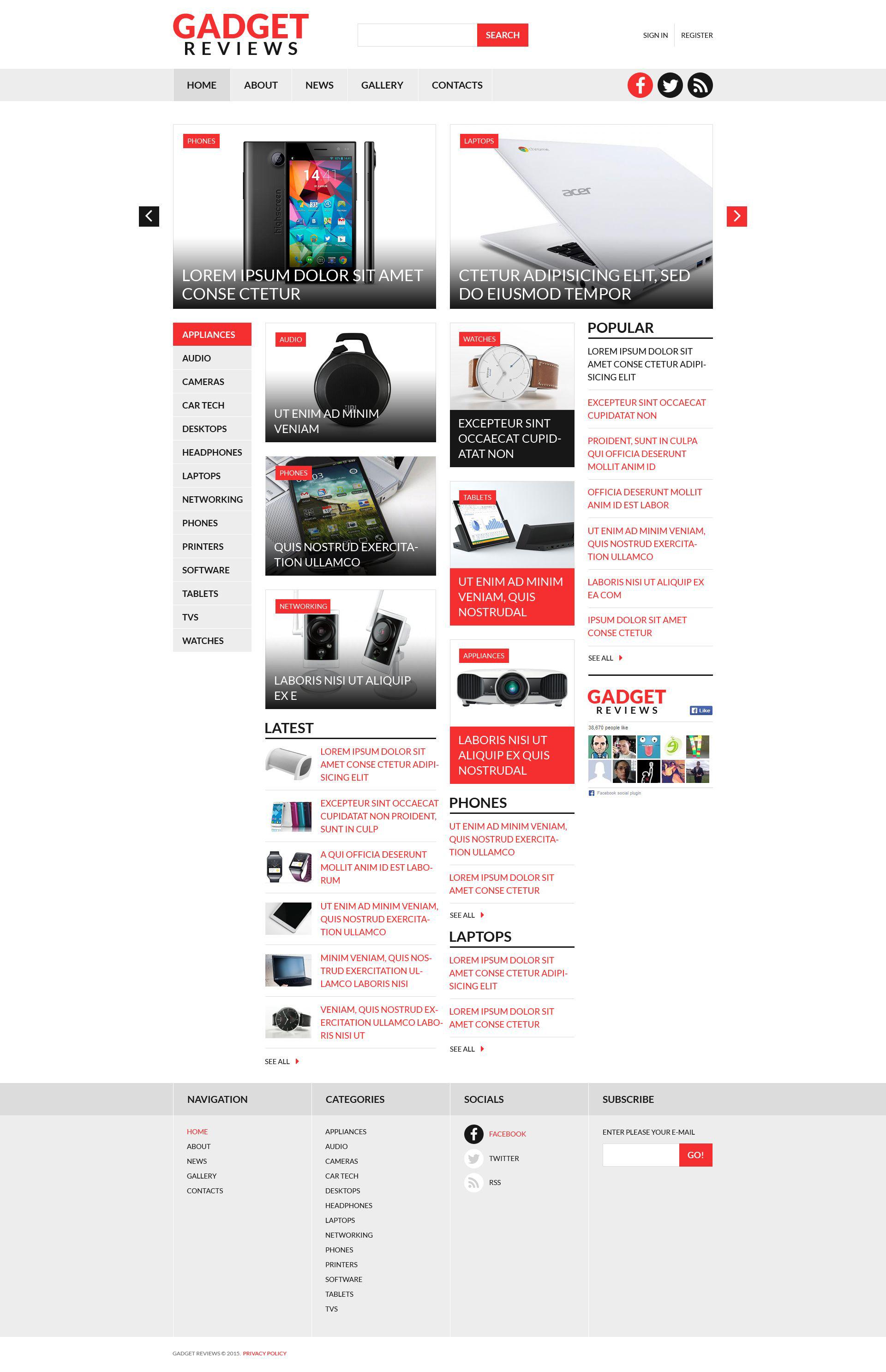 Electronics Reviews Joomla Template