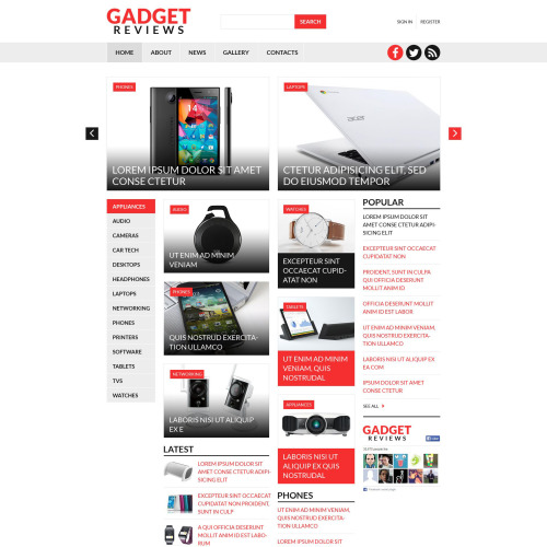 Gadget Reviews - Joomla! Template based on Bootstrap