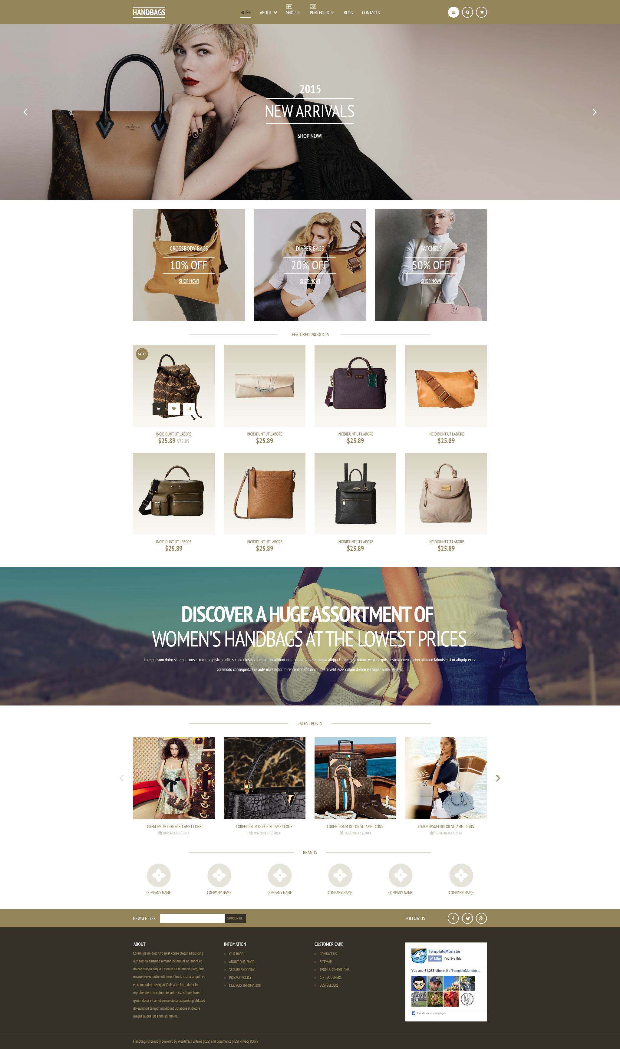 Elegant Handbags Tema WooCommerce №53170 - captura de tela