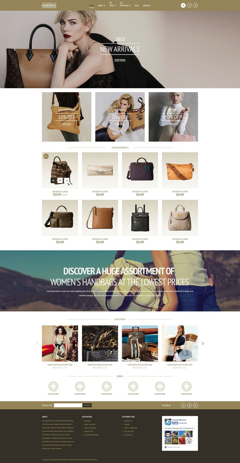 Elegant Handbags WooCommerce Theme New Screenshots BIG