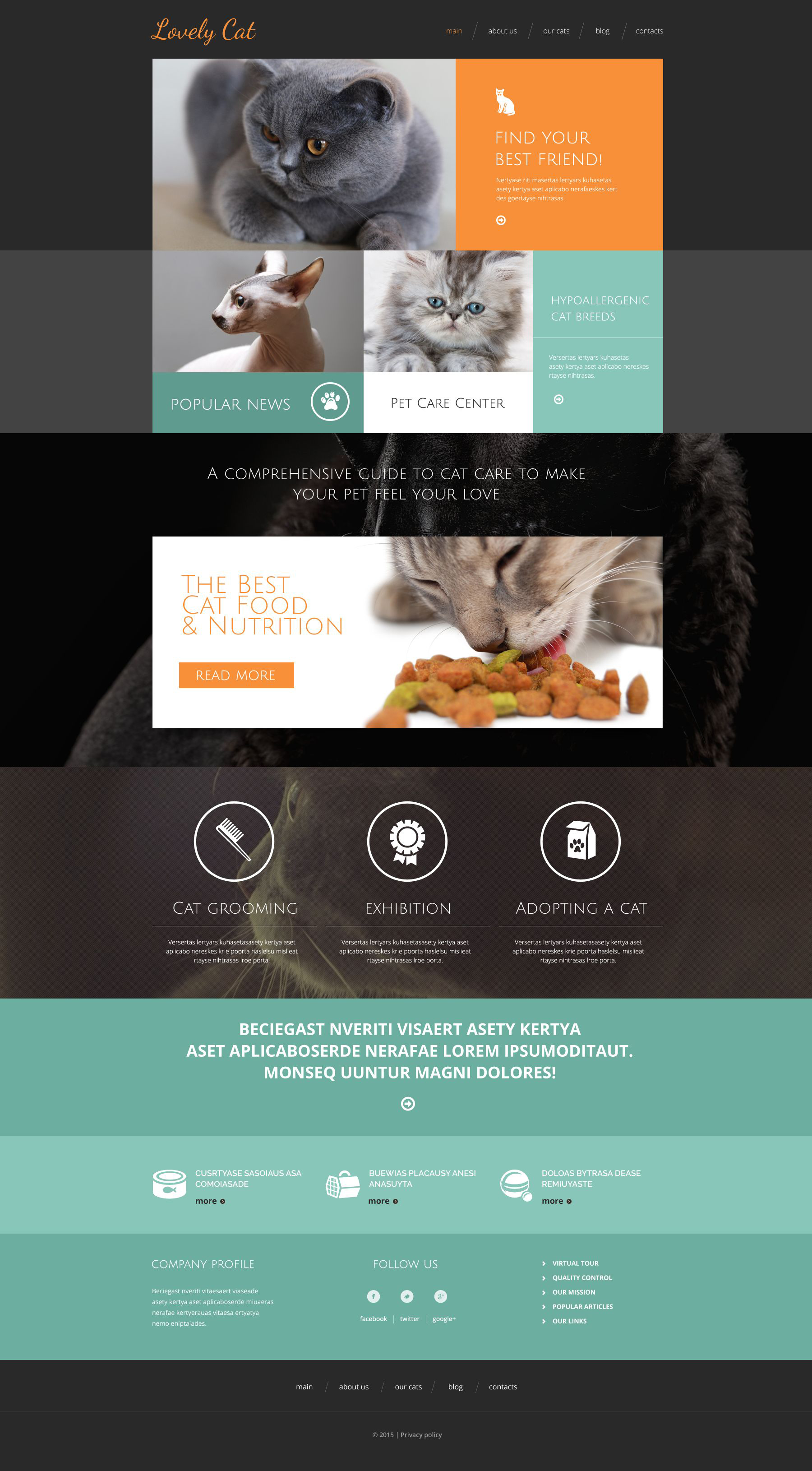 """Exotic Pets"" Responsive Drupal Template №53130 - screenshot"