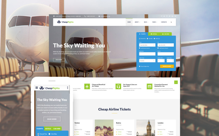 Flight Booking Website Template - Booking website template