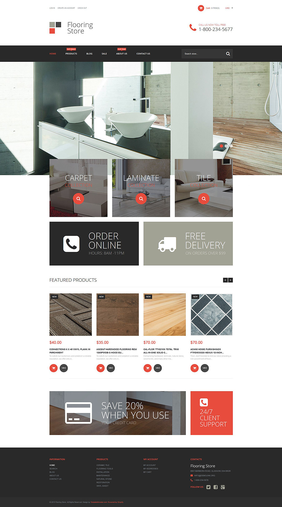 Flooring Store Shopify Theme New Screenshots BIG