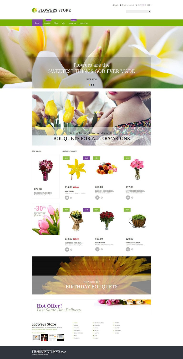 Flower Shop Responsive Shopify Theme New Screenshots BIG